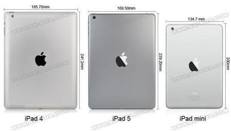Rumor: Así será el iPad 5, un video comparativo con el iPad 4