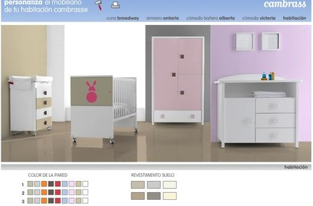 Habitaciones personalizadas para beb con cambrass - Simulador ambientes bruguer ...