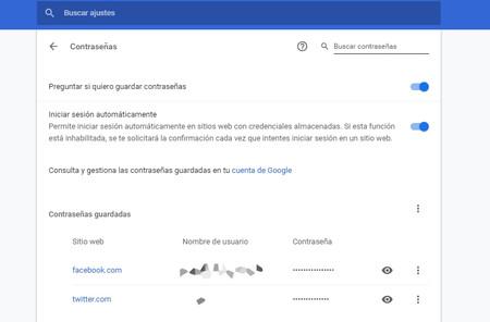 Gestor de contraseñas de Google