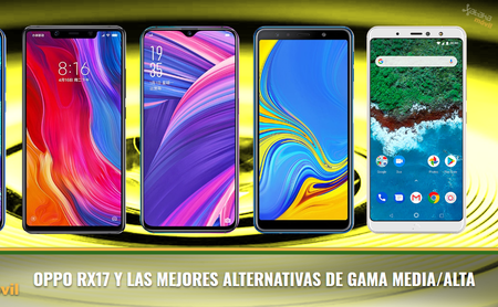 Comparativa OPPO RX17 Pro y OPPO RX17 Neo frente a otros smartphones de gama media/alta