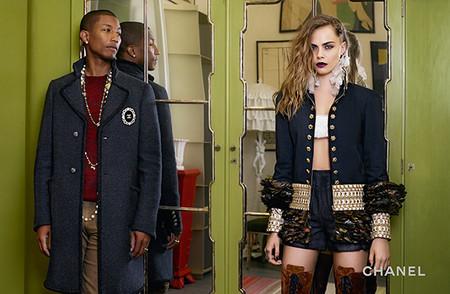 Chanel Metiers Dart 2014 15 Cara Delevingne Pharrell 1