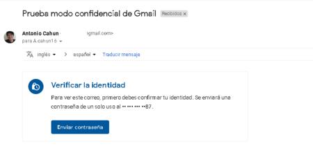 gmail nuevo modo confidencial