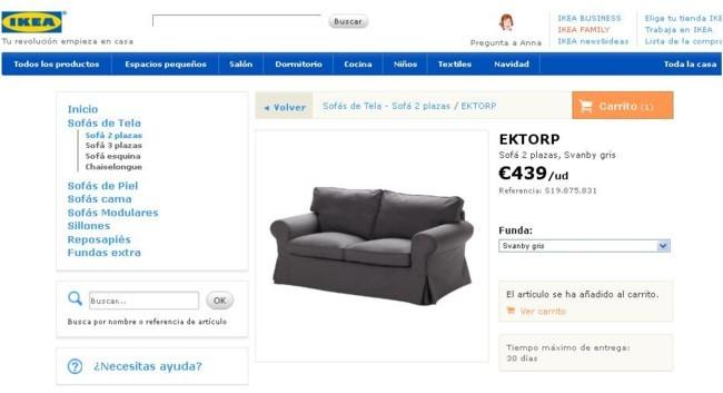 cómo comprar un sofa online en ikea