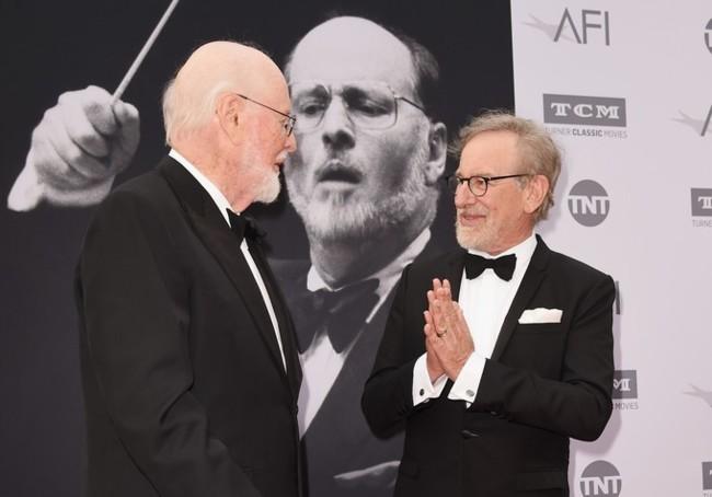 John Williams y Steven Spielberg antes del homenaje organizado por el AFI