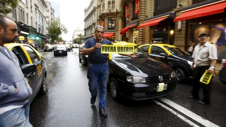 Protestas Contra Uber En Buenos Aires