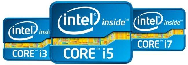 Intel Core logos
