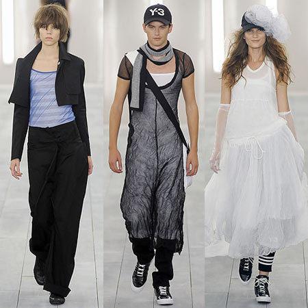 Y-3 de Yohji Yamamoto en la Semana de la Moda de Nueva York Primavera-Verano 2009
