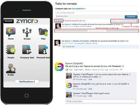 Zyncro ha renovado su versión a la 3.1 y añadido aplicación móvil para iPhone