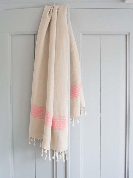 Ottomania Linen Hamam Towel Candy Pink 2357 1