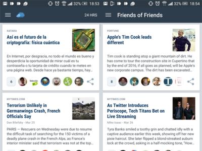 Nuzzel, el lector de noticias de nuestras redes sociales, llega por fin a Android