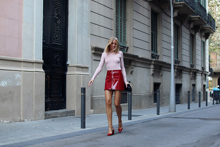 Hanna Stefansson Red Shiny Skirt Pink 6