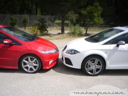 Honda Civic Type-R y SEAT Leon FR