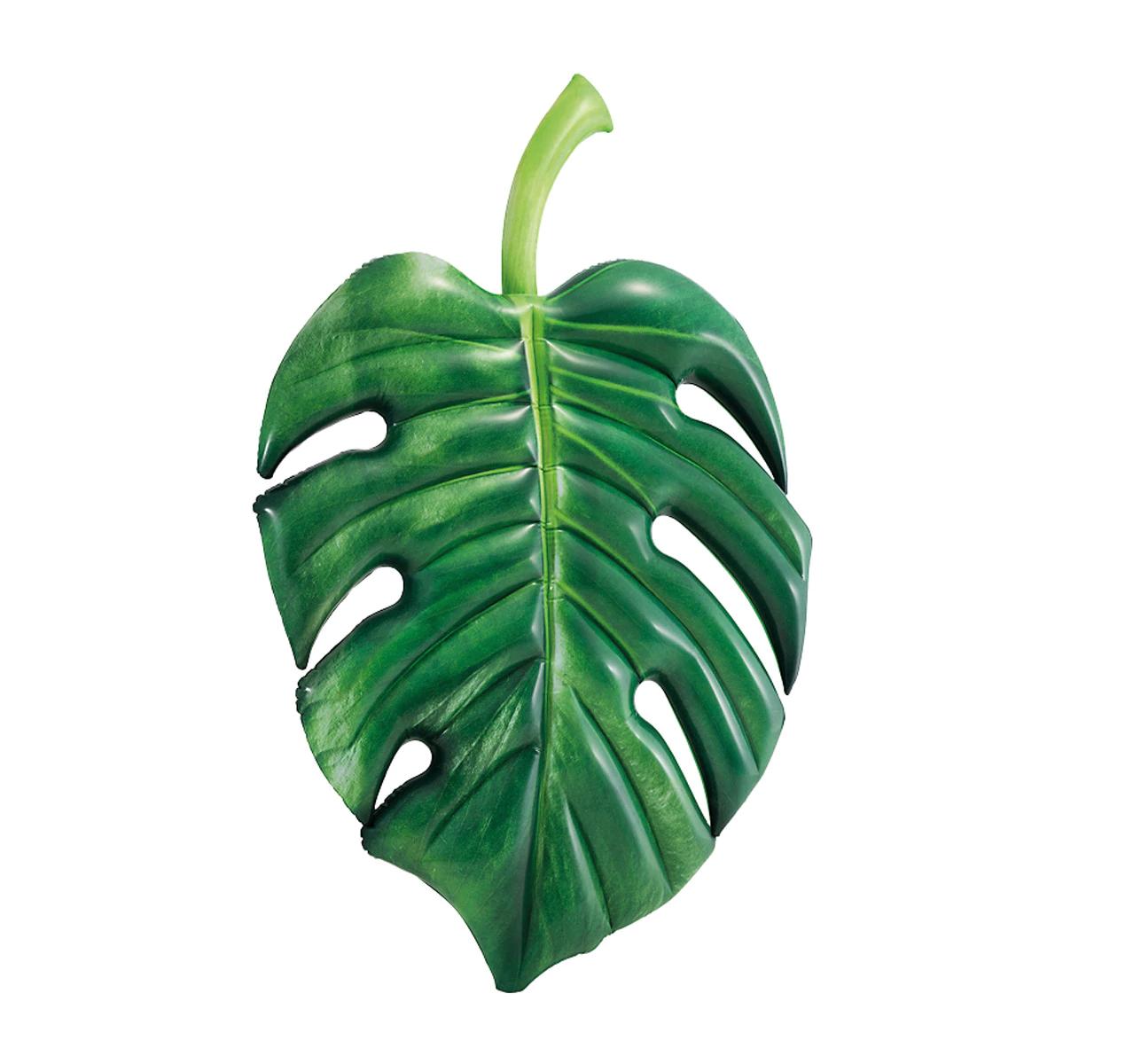 Colchoneta con forma de hoja tropical