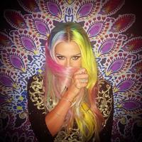 Cuando el arco iris llega al cabello de las celebrities