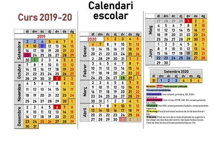 Calendario Escolar Cantabria 2020.Calendario Escolar 2019 2020 Cuando Son Las Vacaciones De