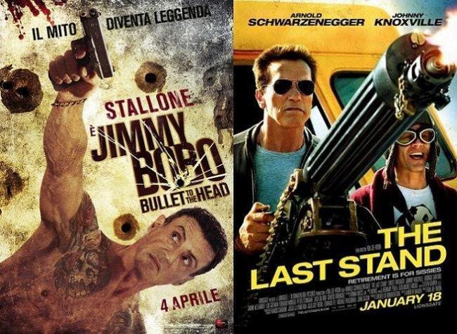 Imagen con los carteles de 'Una bala en la cabeza' y 'El último desafío'