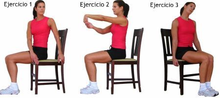 3 ejercicios para estirar en la silla del trabajo
