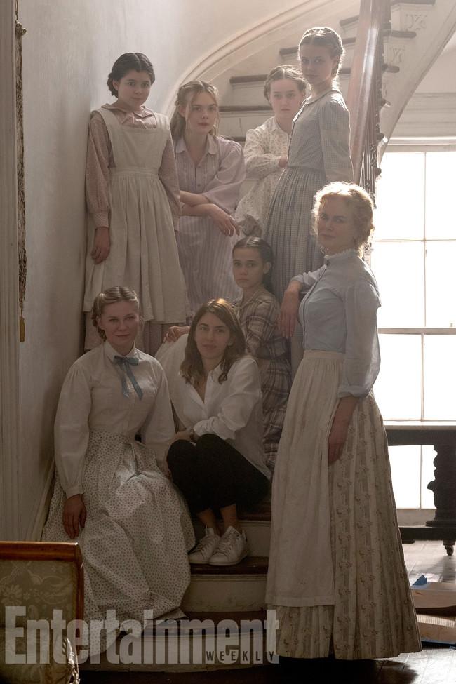 Sofia Coppola con sus actrices