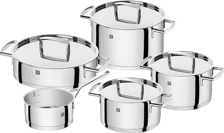 Cookware, stainless steel, glossy gray with Cyber Monday discounts