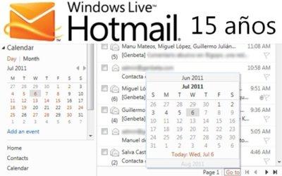 Hotmail cumple 15 años y anuncia un par de novedades