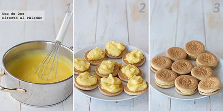 Receta de galletas fritas con crema paso  a paso