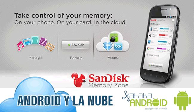SanDisk Memory Zone, Android en la Nube
