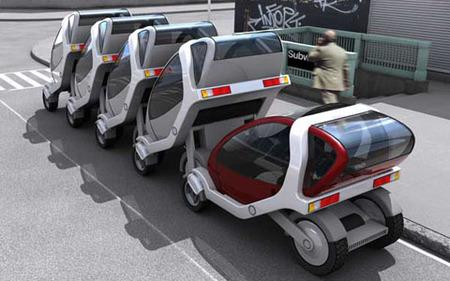 City Car, una visión futurista del transporte público
