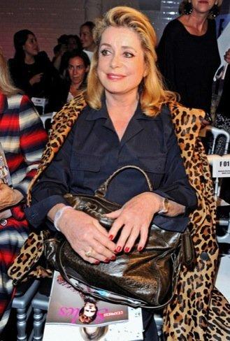 Catherine Deneuve  Semana de la Moda de París Gaultier