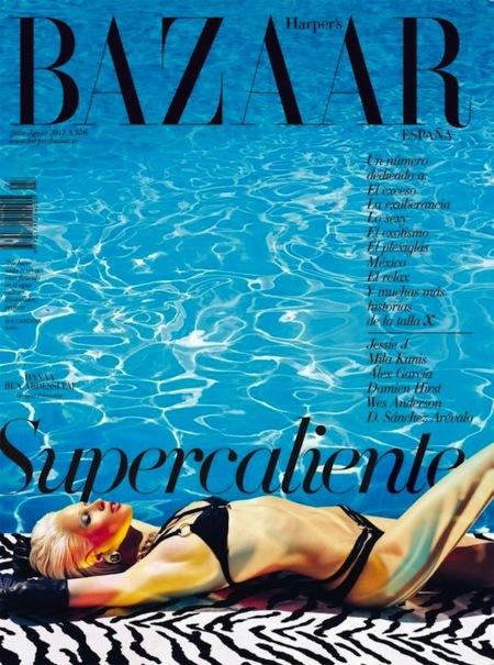 Quiero rayos de sol tumbada con mi Harper's Bazaar