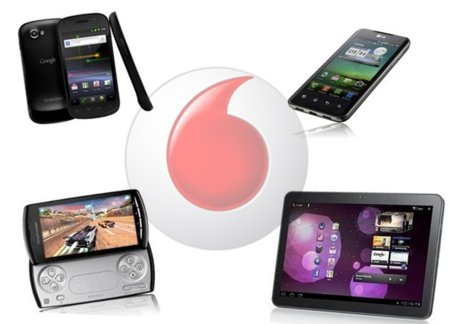 Nexus S, Optimus 2X, Xperia Play y el tablet de Samsung (350 euros), para Vodafone