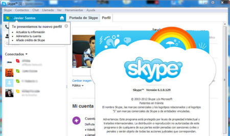 Skype 6.1 disponible para añadir integración con Outlook y varias mejoras visuales