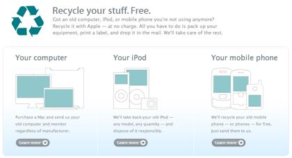 Apple se vuelve verde y recicla tus ordenadores gratuitamente