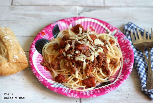 Espaguetis especiales para niños