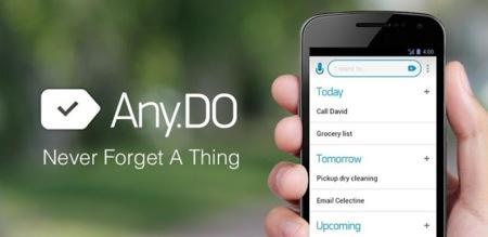 Any.DO se actualiza con soporte para Google Now y Google Glass