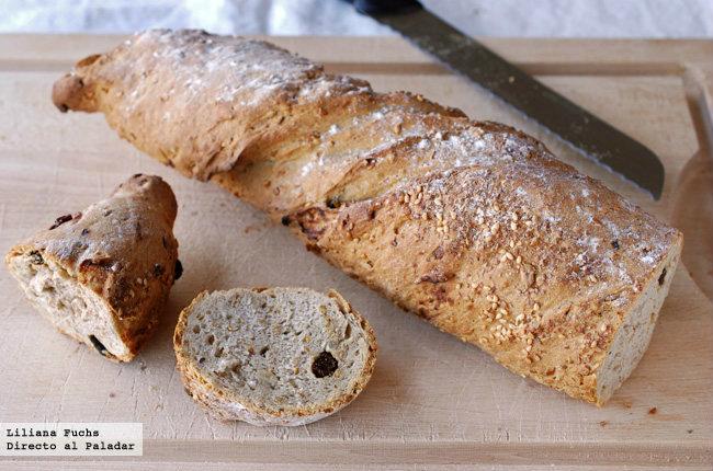 Pan retorcido de espelta con semillas