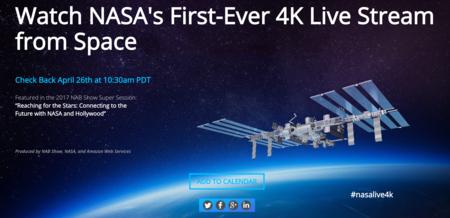 La resolución en 4K llega al espacio para hacer historia en la primera emisión en directo de este tipo
