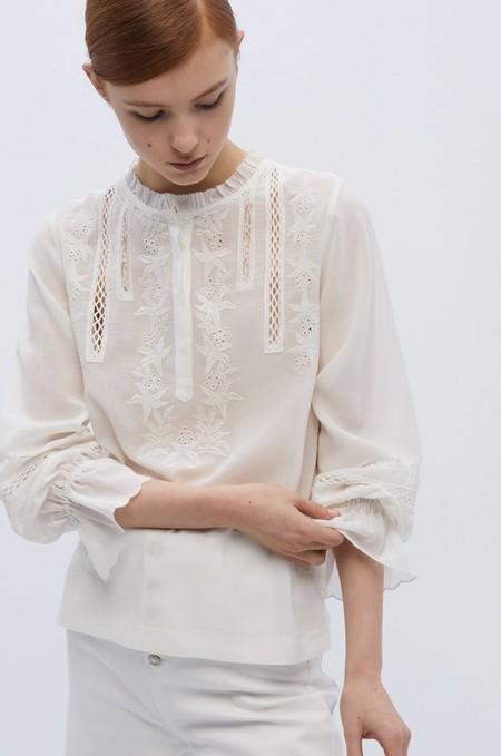 Tops Blusas Blancas Verano 2020 Sfera 13