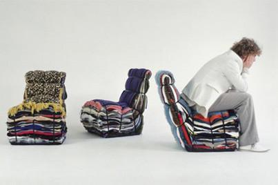 Droog Rag Chair, siéntate en la pila de ropa