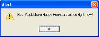 HappyChecker, conoce al instante cuando es hora feliz en Rapidshare