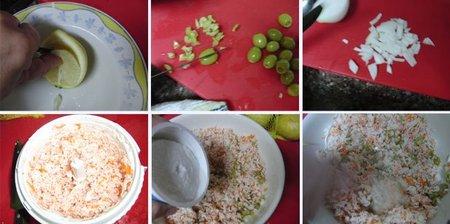 Limones rellenos con pasta de cangrejo