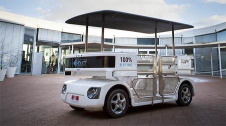 El vehículo autónomo Navia se pasea por el CES de Las Vegas