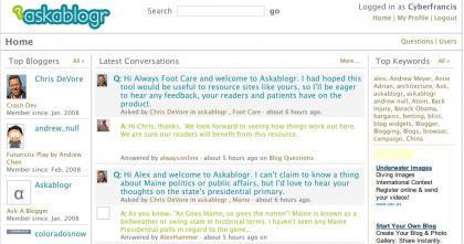 Ask a blogr, plataforma de preguntas y respuestas entre lectores y escritores de blogs