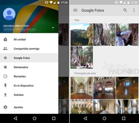 Google Fotos en Drive