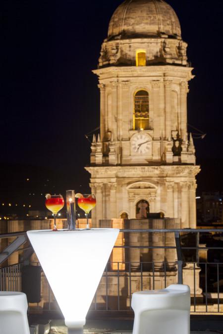 Terraza Vistas Catedral Noche Ac Hotel Malaga