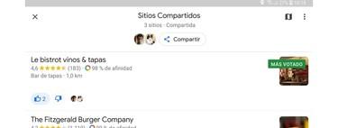 Cómo crear planes en grupo en Google Maps con las listas compartidas