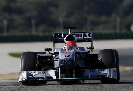 Según Michael Schumacher el rendimiento del MGP W01 es bueno.