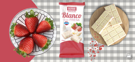 Mercadona Chocolate Blanco Fresa Hacendado