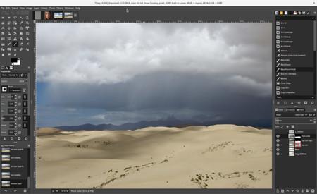Espacio de trabajo de GIMP