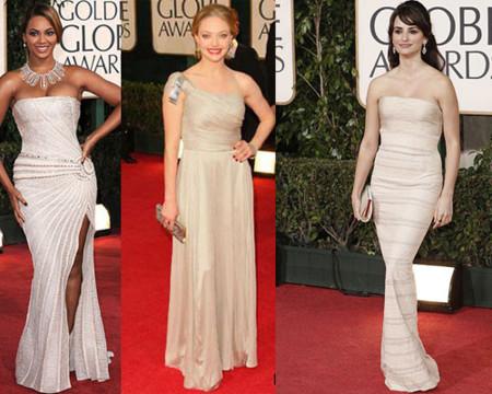 Los colores claros, protagonistas de la alfombra roja de los Globos de Oro 2009
