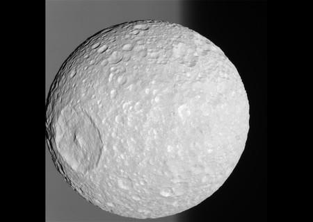 Cassini Mimas Jpg Crop Original Original